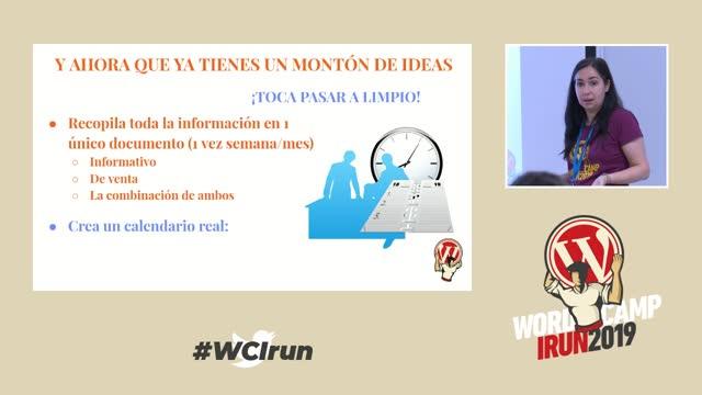 Noelia Jiménez: Plan de contenidos: estrategias y puesta en marcha