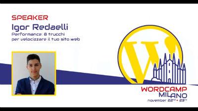 Igor Redaelli: Performance, 8 trucchi per velocizzare il tuo sito web