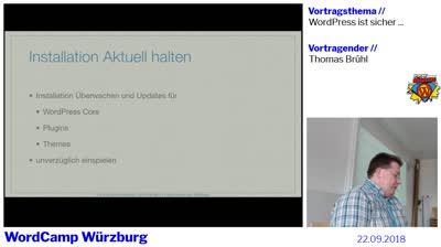 Thomas Brühl: WordPress ist sicher