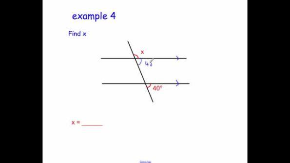 Parallel lines – angles   Corbettmaths