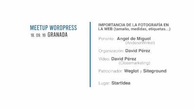 Ángel Miguel Cebrián: Importancia de la fotografía en la web