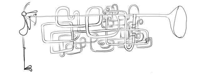A Long Drawn Out Convoluted Clarion Trumpet Player Outsects