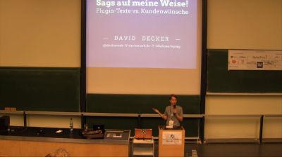 Bernhard Kau, David Decker: Sags auf meine Weise! – Plugin-Texte vs. Kundenwünsche