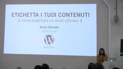 Dana Donato: Etichetta i tuoi contenuti – come progettare un menu efficace