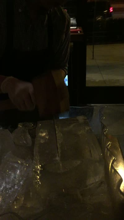 Hand-Cut Ice for Craft Cocktails at Cooks and Soldiers