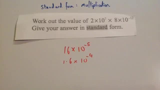 Standard Form Multiplication Corbettmaths