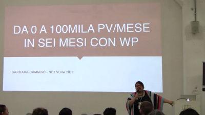 Barbara Damiano: Da 0 a 100 mila page view/mese in sei mesi con WP