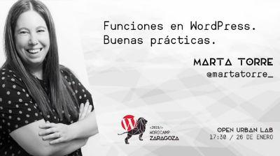 Marta Torre: Funciones en WordPress. Buenas prácticas