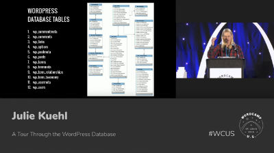 Julie Kuehl: A Tour Through the WordPress Database