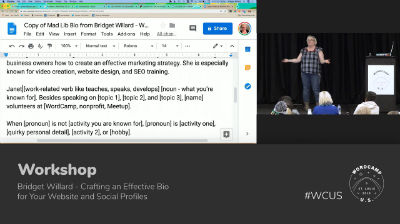 Bridget Willard: Crafting an Effective Bio for Your Website and Social Profiles - Part 1