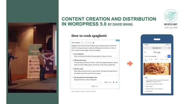 David Wang: Content Creation and Distribution in WordPress 5.0