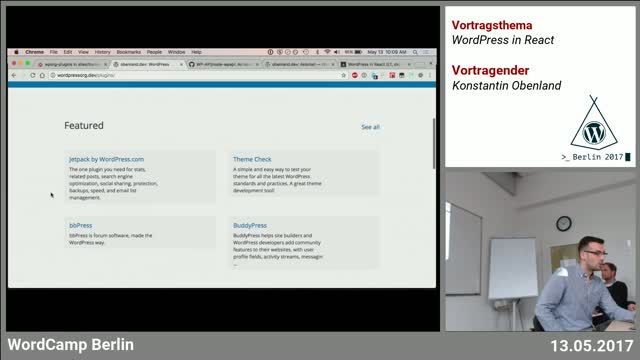 Konstantin Obenland: WordPress in React