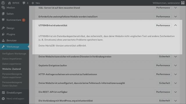 Walter Ebert: WordPress aufräumen