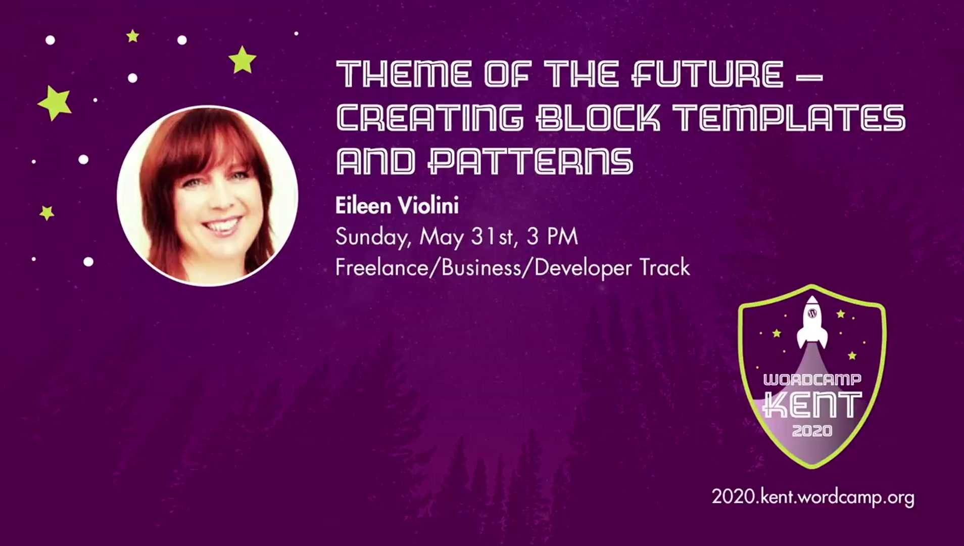Eileen Violini: Theme of the Future -- Creating Block Themes And Patterns